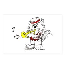 Catoons™ Trumpet Cat Postcards (Package of 8)