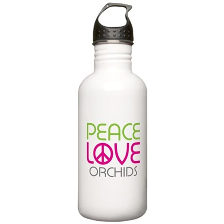 Peace Love Orchids Stainless Water Bottle 1.0L