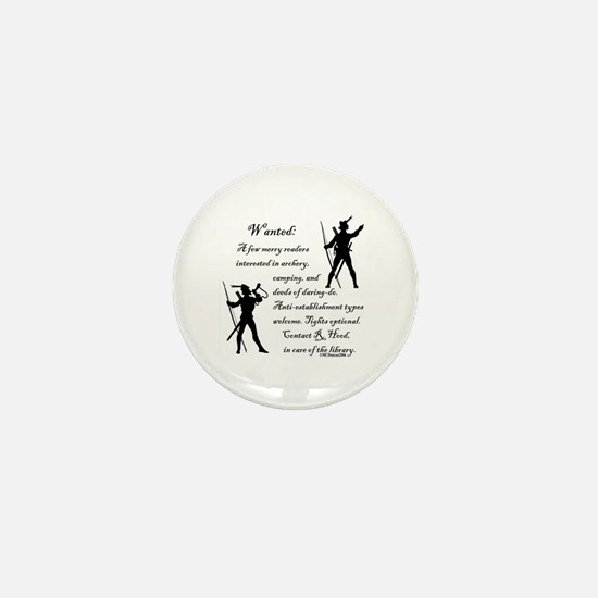 Wanted: A few merry readers.. Mini Button