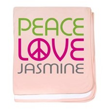 Peace Love Jasmine baby blanket