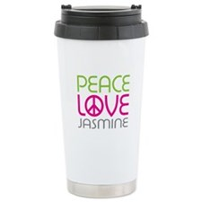 Peace Love Jasmine Travel Mug