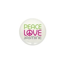 Peace Love Jasmine Mini Button (10 pack)