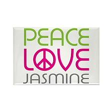 Peace Love Jasmine Rectangle Magnet