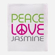 Peace Love Jasmine Throw Blanket