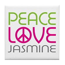 Peace Love Jasmine Tile Coaster