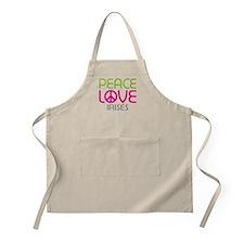 Peace Love Irises Apron