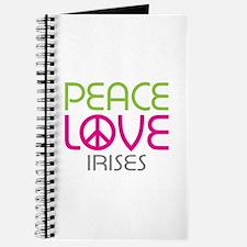 Peace Love Irises Journal