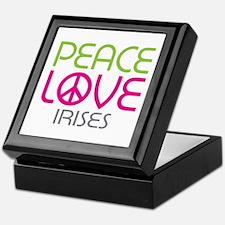 Peace Love Irises Keepsake Box