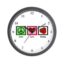 Peace Love Boxing Wall Clock