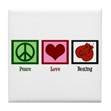 Peace Love Boxing Tile Coaster