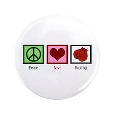"""Peace Love Boxing 3.5"""" Button"""