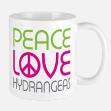 Peace Love Hydrangeas Mug