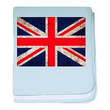 Grunge UK Flag baby blanket