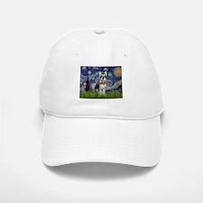 Starry Night & Schnauzer Baseball Baseball Cap