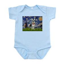 Starry Night & Schnauzer Infant Bodysuit