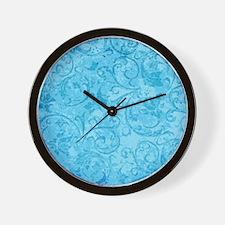Antique Swirls Blue Wall Clock