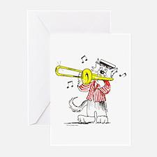 Catoons™ Trombone Cat Greeting Cards (Pk of 20)