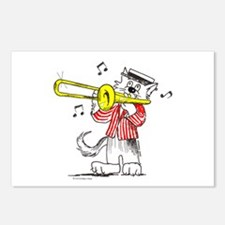 Catoons™ Trombone Cat Postcards (Package of 8)