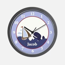 Ahoy Mate Personalized Wall Clock