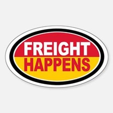 Freight Happens - Yellow Euro Decal