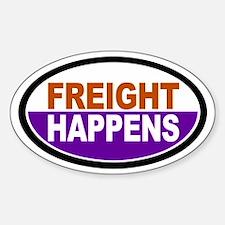Freight Happens - Purple Euro Sticker (Oval)