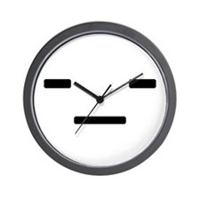 Emoticon: -_- Wall Clock