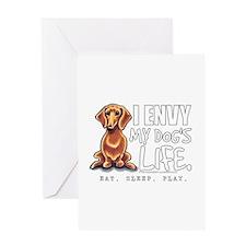 Red Dachshund Envy Greeting Card