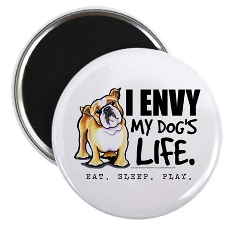 "Bulldog Envy 2.25"" Magnet (10 pack)"