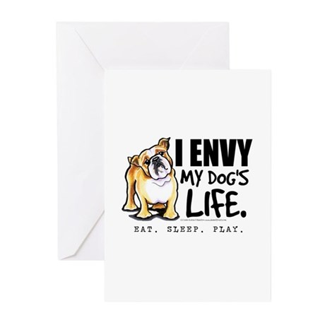 Bulldog Envy Greeting Cards (Pk of 10)