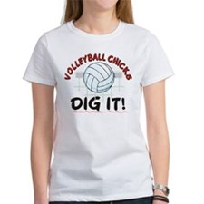 VOLLEYBALL CHICKS DIG IT Tee