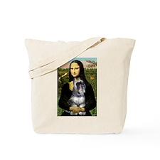 Mona & her Schnauzer Tote Bag