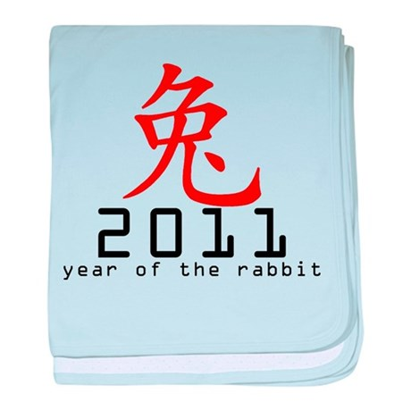 2011 Chinese New Year of The Rabbit baby blanket