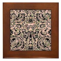 Tribal Voodoo Fleur de lis Framed Tile