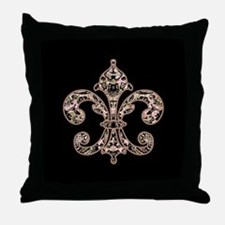 Tribal Voodoo Fleur de lis Throw Pillow