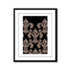 Tribal Voodoo Fleur de lis Framed Panel Print