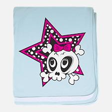 Girly Emo Skull baby blanket