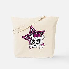 Girly Emo Skull Tote Bag