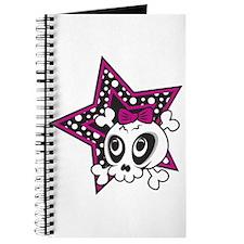 Girly Emo Skull Journal
