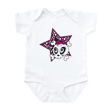 Girly Emo Skull Infant Bodysuit