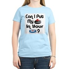 Can I Put My Rock in Your Hou Women's Pink T-Shirt