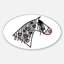 Appy Hearts Sticker (Oval)