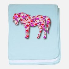 The Original Heart Horse baby blanket