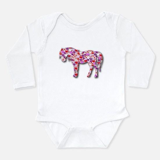 The Original Heart Horse Long Sleeve Infant Bodysu