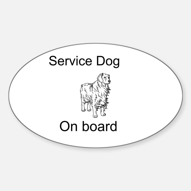 Cute Service dog Decal