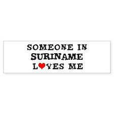 Someone in Suriname Bumper Car Sticker