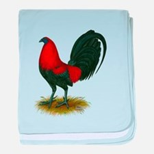 Big Red Rooster baby blanket