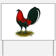 Big Red Rooster Yard Sign
