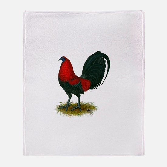 Big Red Rooster Throw Blanket