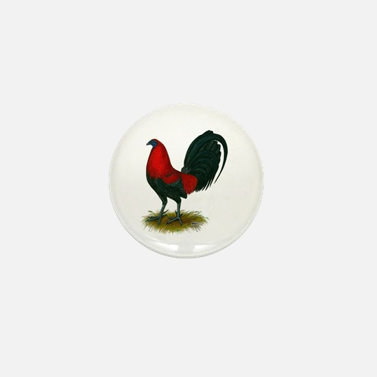 Big Red Rooster Mini Button