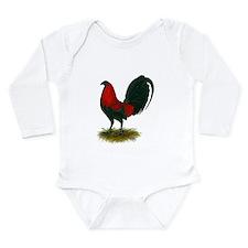Big Red Rooster Long Sleeve Infant Bodysuit
